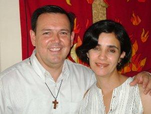 Joel Sierra y su esposa Eva Martínez